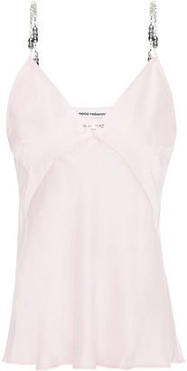 Paco Rabanne Chain-trimmed Satin Camisole