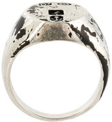 Andrea D'Amico worn out effect ring