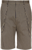 TOMORROWLAND Striped cotton-gabardine shorts