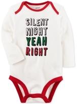 Carter's Silent Night Yeah Right Cotton Bodysuit, Baby Boys & Girls (0-24 months)
