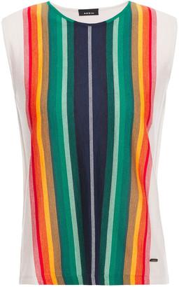 Akris Striped Cashmere And Silk-blend Jacquard Top