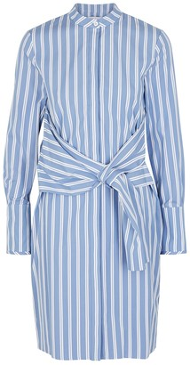 Victoria Victoria Beckham Blue striped cotton shirt dress