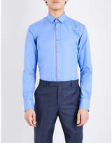 Lanvin Contrast-trim Regular-fit Cotton-blend Shirt
