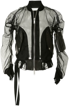 Unravel Project Mesh Bomber Jacket