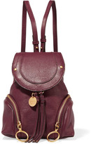 See by Chloe Olga Small Textured-leather Backpack - Burgundy