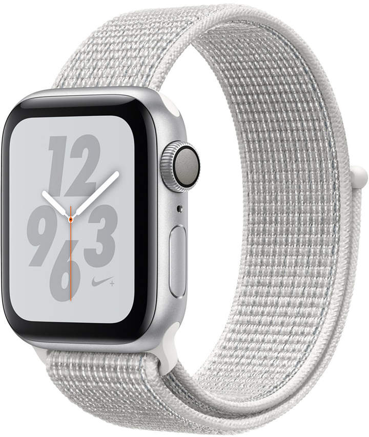 Apple Watch Nike+ Series 4 Gps, 40mm Silver Aluminum Case with Summit White Nike Sport Loop