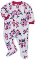 Little Me Newborn Girls) Floral Fleece Footie