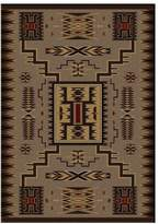 Dakota American Storm Catcher Rug, Brown, 8'x11', Rectangle