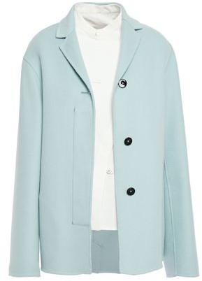 Jil Sander Layered Cashmere-felt Coat