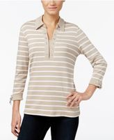 Karen Scott Striped Layered-Look Top, Only at Macy's