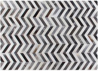 Chevron Hide - Gray/White - Exquisite Rugs