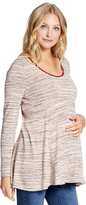 Motherhood Jessica Simpson Peplum Maternity Tunic