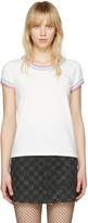 Marc Jacobs Ivory Rainbow 70's T-Shirt