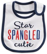 "Carter's ""Star Spangled Cutie"" Bib in White"