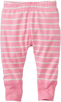 Hanna Andersson Starfish Pink & Oat Heather Stripe Organic Cotton Wiggle Pants