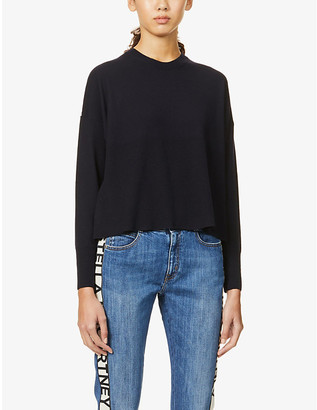 Stella McCartney Graphic-print wool and silk jumper
