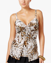 Miraclesuit Sheer Safari Love Knot Tankini Top