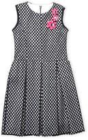 Zoë Ltd Girls 7-16) Floral Pin Mesh Fit & Flare Dress