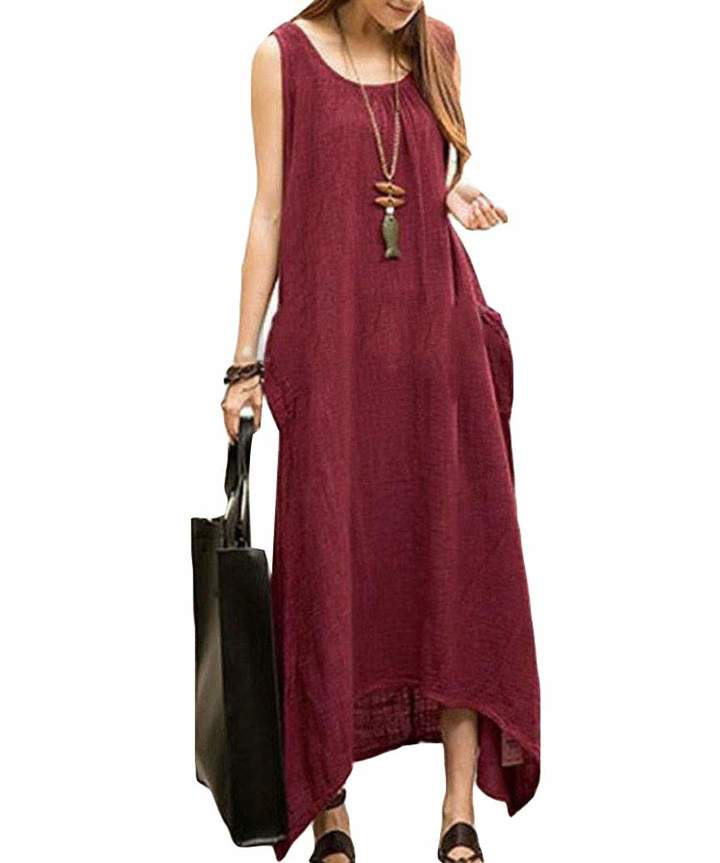 aa8810bd538e Plus Size Maxi Dress With Pockets - ShopStyle Canada