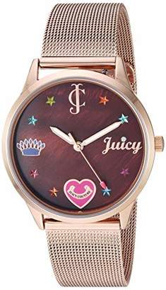 Juicy Couture Black Label Women's -Tone Mesh Bracelet Watch