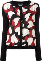 Moschino love heart motif cardigan