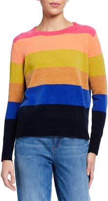 LISA TODD Cross Country Pop Stripe Chenille Sweater