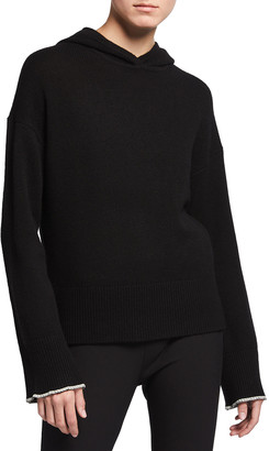 Theory Cashmere Hooded Pullover