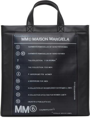 MM6 MAISON MARGIELA Black Print Logo Tote