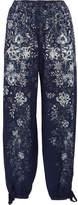 Chloé Printed Cady Pants - Blue