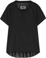 MM6 MAISON MARGIELA Cotton and chiffon T-shirt