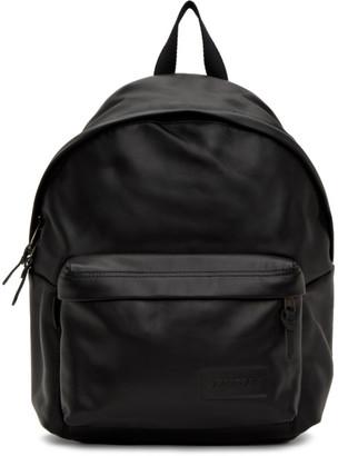 Eastpak Black Leather Padded Pakr Backpack