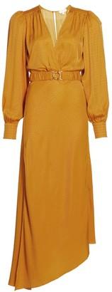 Ronny Kobo Estelle Faux-Wrap Midi Dress