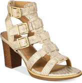 White Mountain Gemmy Block-Heel Dress Sandals