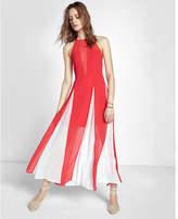 Express high neck godet sleeveless maxi dress