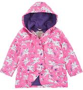 Hatley Girls' Unicorn Print Raincoat, Pink