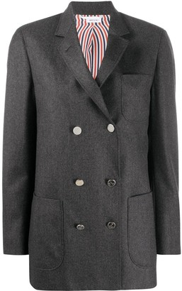 Thom Browne DB Sack Jacket In Super 120 Wool Flannel