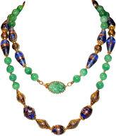One Kings Lane Vintage Joseph Mazer Ornate Art Glass Necklace