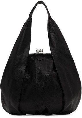 Y's Ys Black Large Clasp Hand Bag
