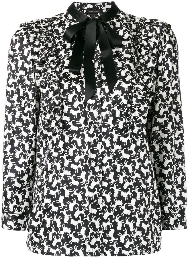 Marc Jacobs poodle print shirt
