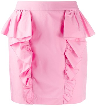 Gina Ruffle Trim Mini Skirt