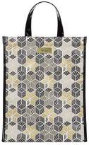 Harrods Medium Metallic Cube Shopper Bag