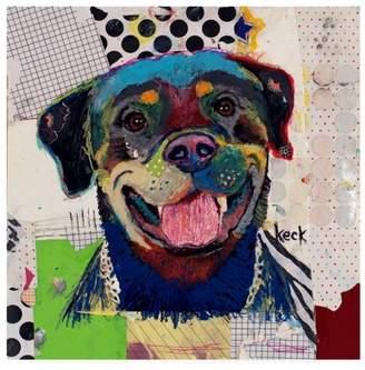 Trademark Art Trademark Fine Art 'Rottweiler Abstract' Canvas Art by Michel Keck