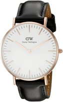 Daniel Wellington Women's 0508DW Classic Sheffield Analog Display Quartz Black Watch
