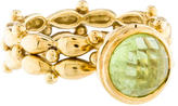 Elizabeth Showers 18K Peridot Cocktail Ring