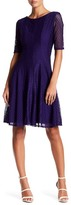 Gabby Skye Lace Seamed Fit & Flare Dress