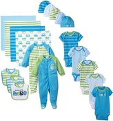 Gerber Baby-Boys Newborn Seriously Cute 19 Piece Gift Bundle Set, Blue, 0-3 Months