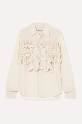 Comme des Garcons Ruffled Georgette Shirt - Ecru