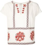 Suno embroidered short sleeve top - women - Cotton - 4