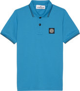 Stone Island Logo Classic Trim Stretch-cotton Polo Shirt 4-14 Years
