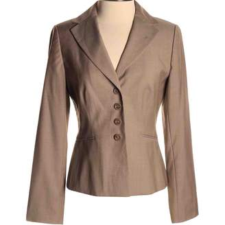 Ann Taylor Khaki Wool Jacket for Women
